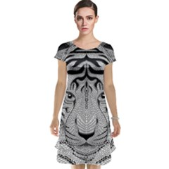 Tiger Head Cap Sleeve Nightdress
