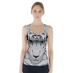 Tiger Head Racer Back Sports Top