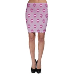 Alien Pattern Pink Bodycon Skirt