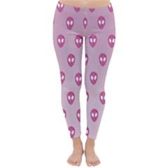 Alien Pattern Pink Classic Winter Leggings