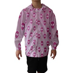 Alien Pattern Pink Hooded Wind Breaker (Kids)