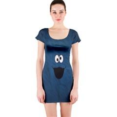 Funny Face Short Sleeve Bodycon Dress