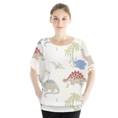Dinosaur Art Pattern Blouse