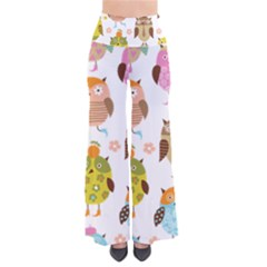 Cute Owls Pattern Pants