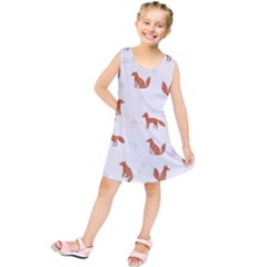 Fox Animal Wild Pattern Kids  Tunic Dress