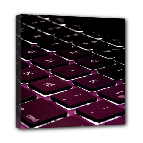 Computer Keyboard Mini Canvas 8  x 8