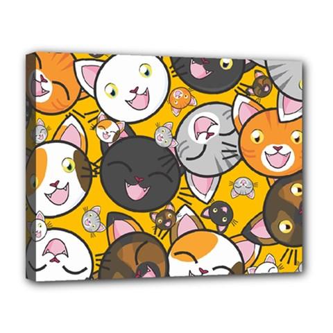 Cats Cute Kitty Kitties Kitten Canvas 14  x 11