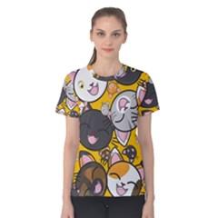 Cats Cute Kitty Kitties Kitten Women s Cotton Tee