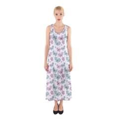 Cute Pastel Butterflies Sleeveless Maxi Dress