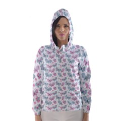 Cute Pastel Butterflies Hooded Wind Breaker (Women)