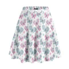 Cute Pastel Butterflies High Waist Skirt