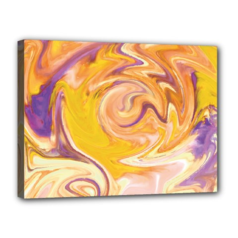 Yellow Marble Canvas 16  X 12