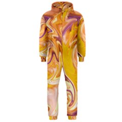 Yellow Marble Hooded Jumpsuit (Men)