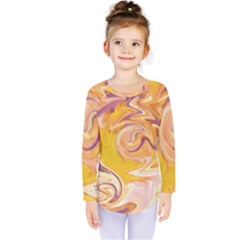 Yellow Marble Kids  Long Sleeve Tee