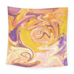 Yellow Marble Square Tapestry (large)