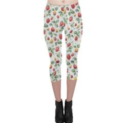 Strawberry pattern Capri Leggings