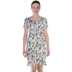 Strawberry pattern Short Sleeve Nightdress