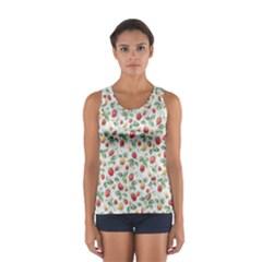 Strawberry pattern Women s Sport Tank Top