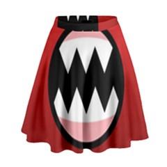 Funny Angry High Waist Skirt
