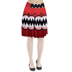 Funny Angry Pleated Skirt
