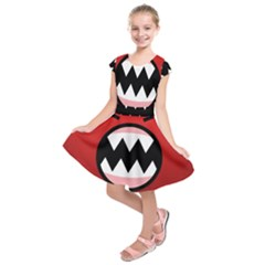 Funny Angry Kids  Short Sleeve Dress