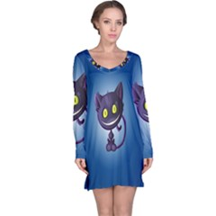 Cats Funny Long Sleeve Nightdress