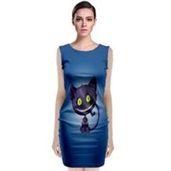 Cats Funny Classic Sleeveless Midi Dress