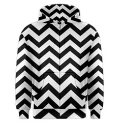 Black And White Chevron Men s Zipper Hoodie