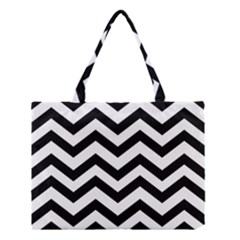 Black And White Chevron Medium Tote Bag