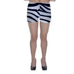 White Tiger Skin Skinny Shorts