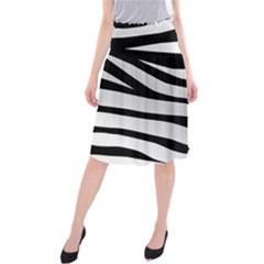 White Tiger Skin Midi Beach Skirt