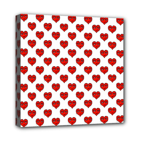Emoji Heart Shape Drawing Pattern Mini Canvas 8  x 8