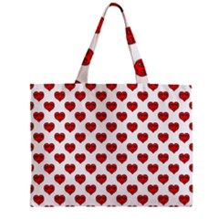 Emoji Heart Shape Drawing Pattern Zipper Mini Tote Bag