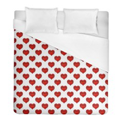 Emoji Heart Shape Drawing Pattern Duvet Cover (Full/ Double Size)
