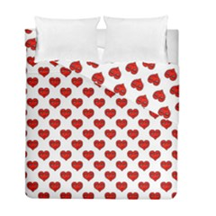 Emoji Heart Shape Drawing Pattern Duvet Cover Double Side (Full/ Double Size)