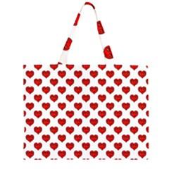 Emoji Heart Shape Drawing Pattern Large Tote Bag