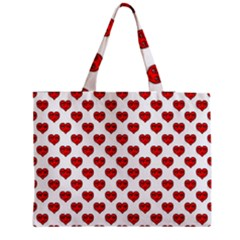 Emoji Heart Shape Drawing Pattern Medium Tote Bag
