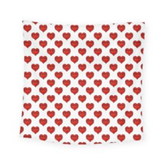 Emoji Heart Shape Drawing Pattern Square Tapestry (small)