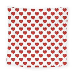 Emoji Heart Shape Drawing Pattern Square Tapestry (Large)