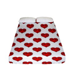 Emoji Heart Character Drawing  Fitted Sheet (Full/ Double Size)