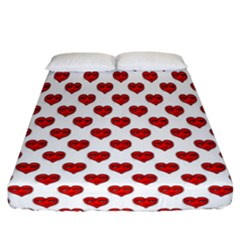 Emoji Heart Character Drawing  Fitted Sheet (California King Size)
