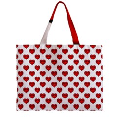Emoji Heart Character Drawing  Zipper Mini Tote Bag