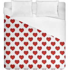 Emoji Heart Character Drawing  Duvet Cover (King Size)