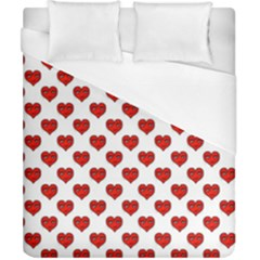 Emoji Heart Character Drawing  Duvet Cover (California King Size)