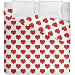 Emoji Heart Character Drawing  Duvet Cover Double Side (King Size)