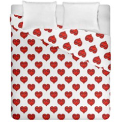 Emoji Heart Character Drawing  Duvet Cover Double Side (California King Size)