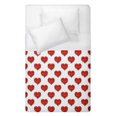 Emoji Heart Character Drawing  Duvet Cover (Single Size)