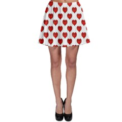 Emoji Heart Shape Drawing Pattern Skater Skirt