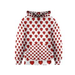 Emoji Heart Shape Drawing Pattern Kids  Zipper Hoodie