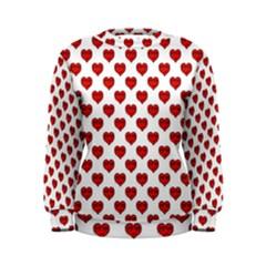 Emoji Heart Shape Drawing Pattern Women s Sweatshirt